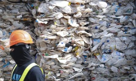 a pile of Australian plastic waste