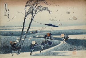 Ejiri in Suruga Province, 1831 by Hokusai, from the series of woodblock prints Thirty-six Views of Mount Fuji.
