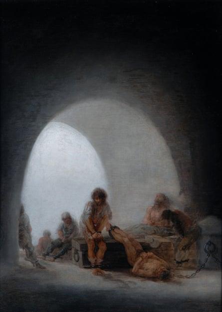 Interior of a Prison, 1793-94, by Goya.