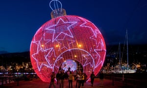 Christmas decorations in the marina, Funchal, Madeira