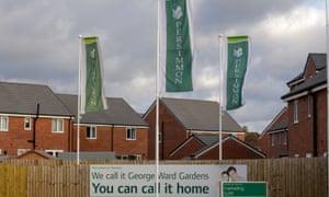 Persimmon Homes' development at George ward Gardens, Melksham, Wiltshire.