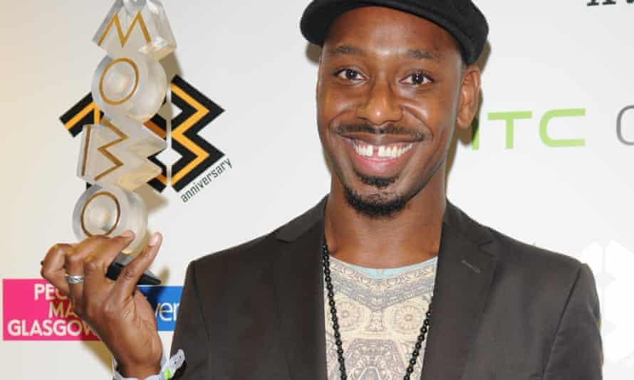 Shabaka Hutchings with his MOBO for Best Jazz Act in 2013.