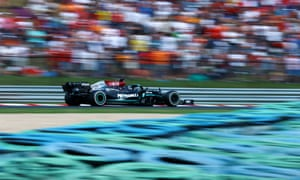 Mercedes' British driver Lewis Hamilton.