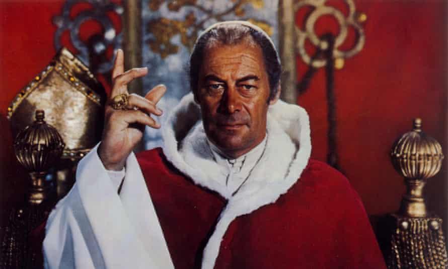 Rex Harrison as Santa Claus ... sorry, Pope Julius II.
