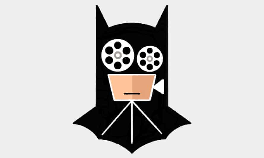 Illustration of batman mask with film reels