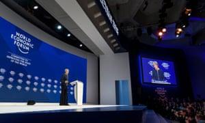 Theresa May at the World Economic Forum, Davos, January 2018