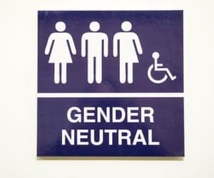 Gender Neutral restroom sign in New York