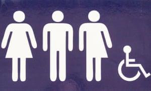 A gender neutral toilet sign.