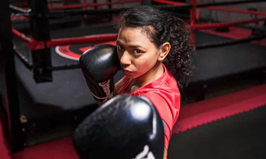 Ruqsana Begum says she 'can't believe I had the courage to walk in' to the KO Combat Academy as an 18-year-old.