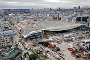 The redevelopment site of Les Halles in Paris