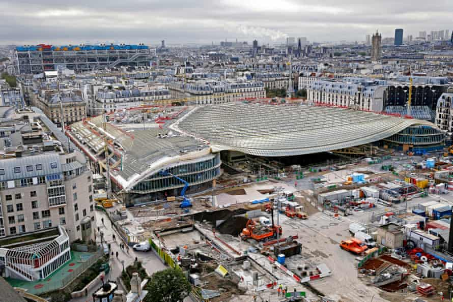 The redevelopment site of Les Halles in Paris