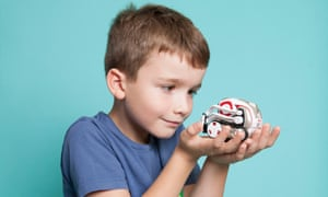 Seven-year-old Max with US bestseller Cozmo.