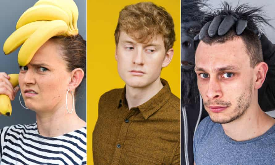 From left: nominees Zoe Coombs Marr, James Acaster and Richard Gadd