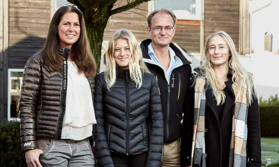The Hain family are among those who will test the self-driving XC90 in Gothenburg.