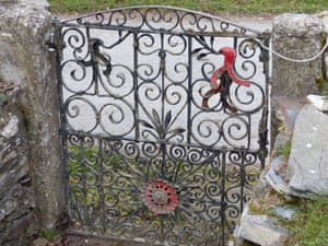 A gate with red soul symbol