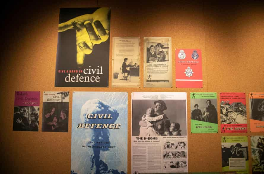 A collection of posters on display during the preview of the National Archives exhibition