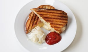 'Utter abandonment and filth': fried cheese sandwich.