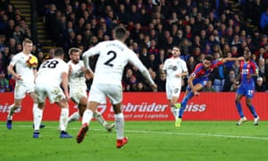 Andros Townsend scores Crystal Palace's second goal to make sure of victory.