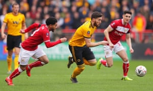 Matt Doherty of Wolverhampton Wanderers evades Jay Dasilva of Bristol City