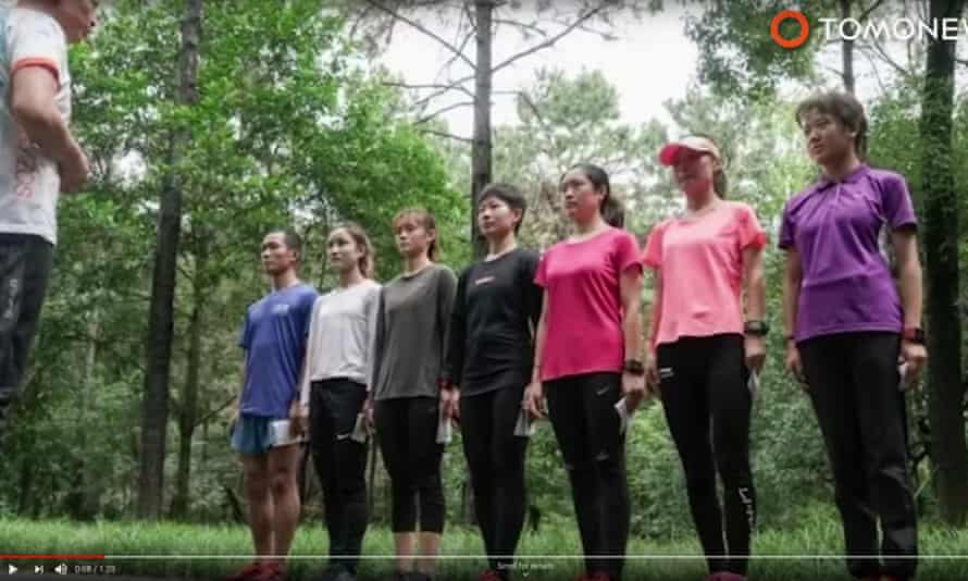 Screengrab of the Chinese orienteering team disqualified from the Military World Games for cheating
