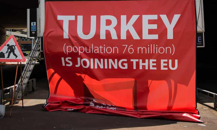 Vote Leave Turkey poster during EU referendum