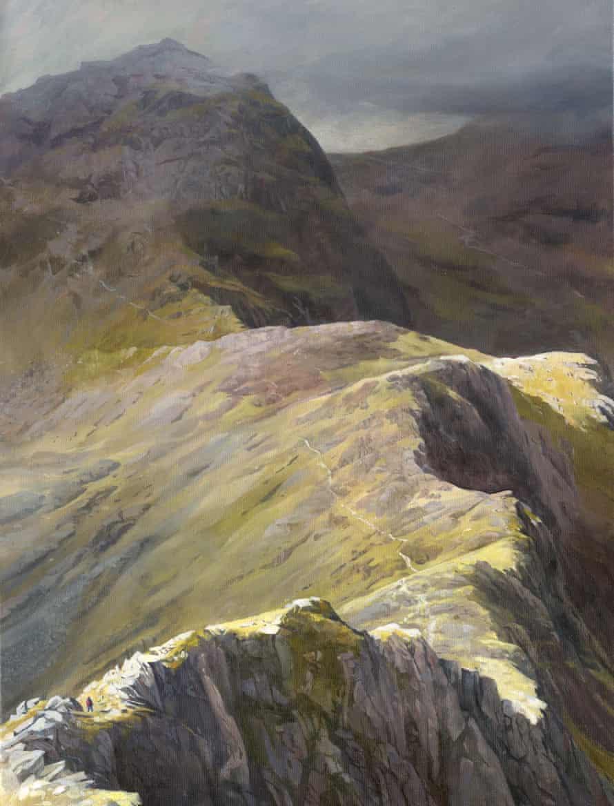Bwlch y Ciliau, a long saddle between Lliwedd and Snowdon.