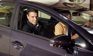The Spanish Socialist Workers' Party (PSOE) leader Pedro Sanchez leaving the party's headquarters in Madrid.