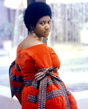 Aretha Franklin poses for a portrait in 1968.
