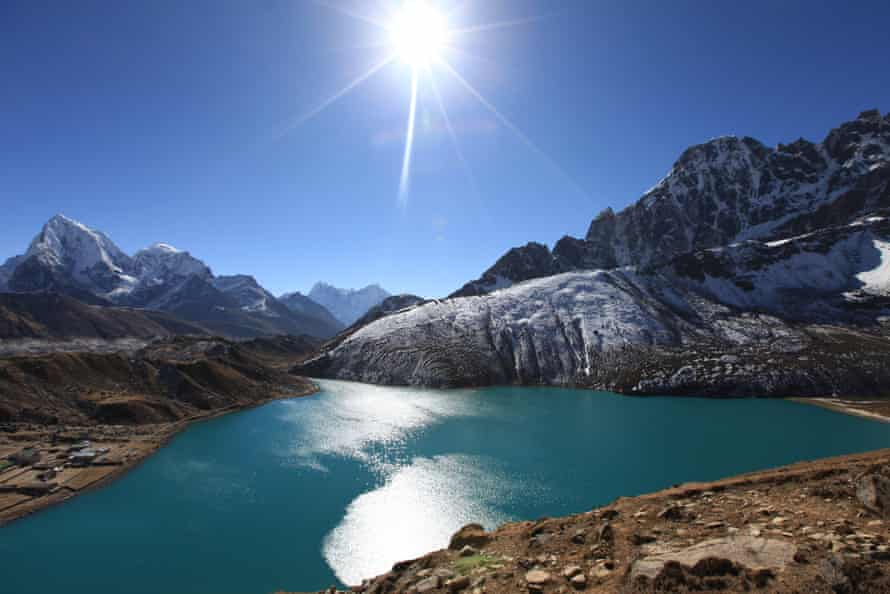 A glacial lake in the Himalayas