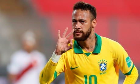 Neymar second only to Pelé on Brazil scoring list after hat-trick defeats Peru
