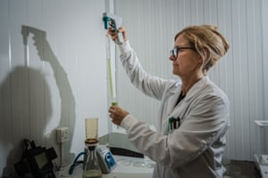 Analytical characterisation of micro-algae samples at Algalif laboratory, in Keflavik
