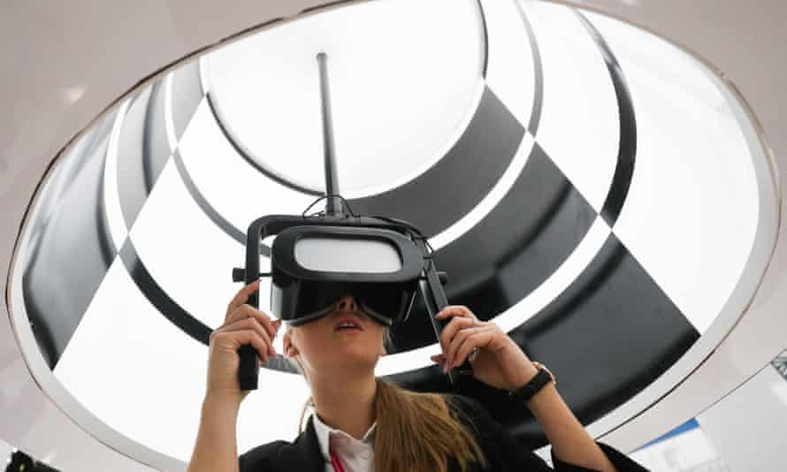 'A maze of reproductions' … a virtual reality headset.
