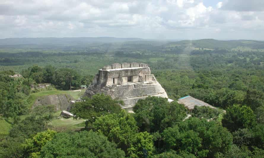 Xunantunich, in western Belize, where archaeologists found a tomb and hieroglyphic panels depicting the history of the 'snake dynasty'.