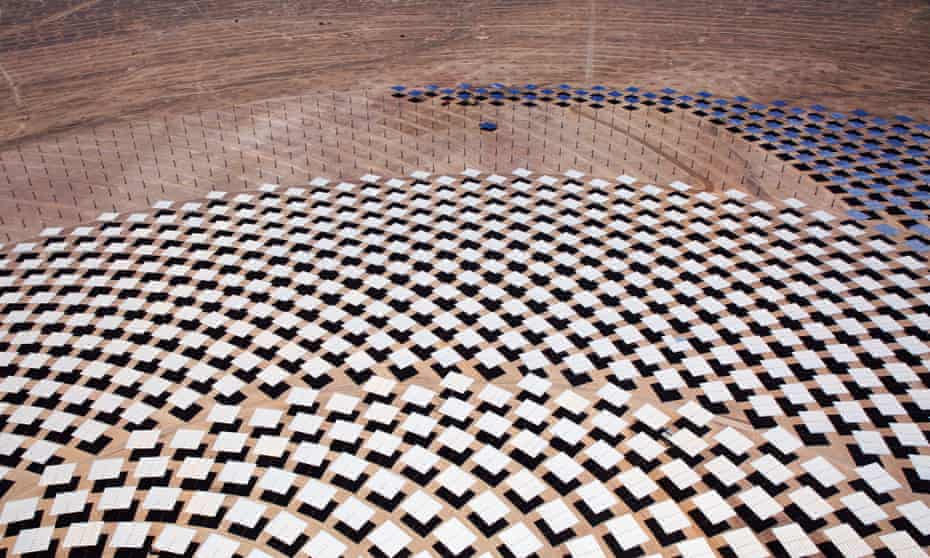 Atacama 1 concentrated solar power plant being built by Spanish firm Abengoa in Chile.