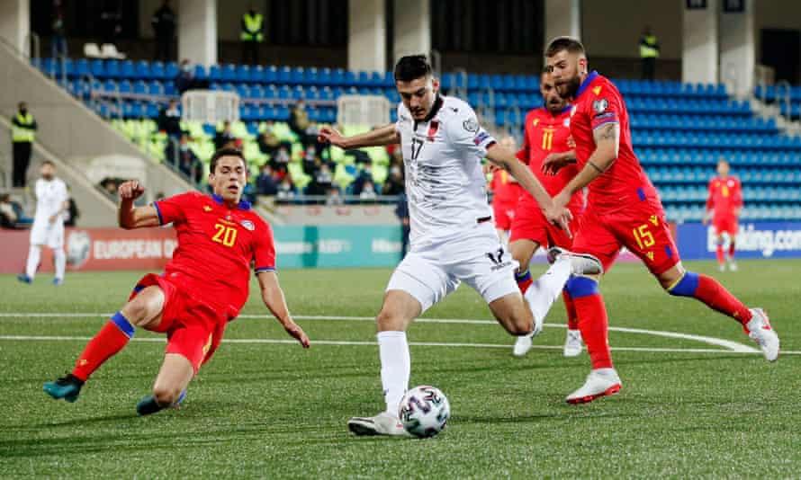 arnavutluk'lu armando broja, 1-0 hafta ortası dünya kupası eleme galibiyetinde andorra'nın golünü attı.