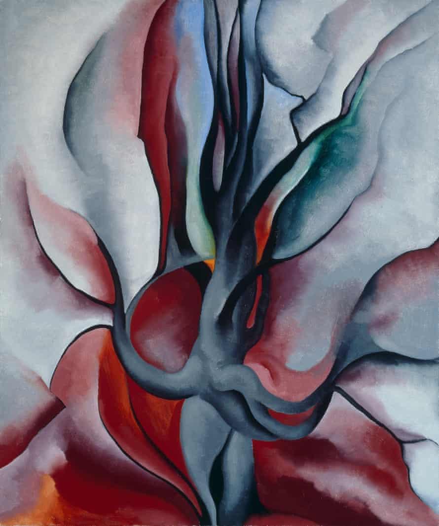 Georgia O'Keeffe Autumn Trees-The Maple 1924 Oil on canvas.