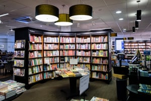 The interior of a Waterstone's store