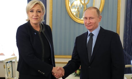 Putin tells Le Pen Russia has no plans to meddle in French election