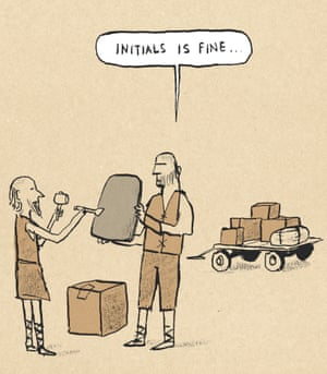 Berger & Wyse on deliveries – cartoon