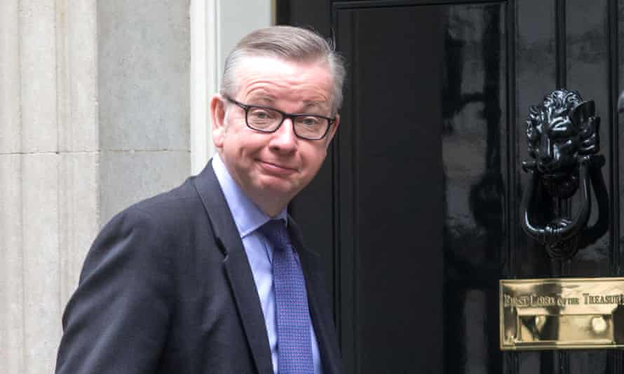 Michael Gove arrives at 10 Downing Street.