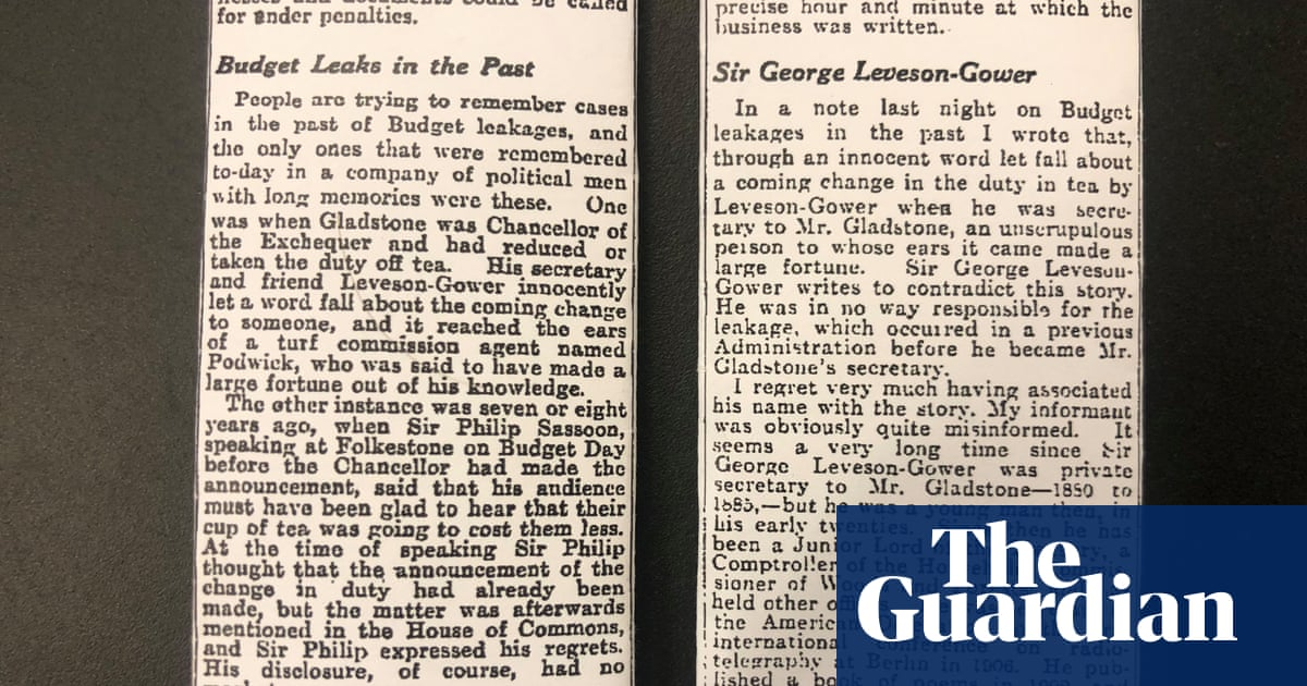 Budget leaks and a Guardian libel case