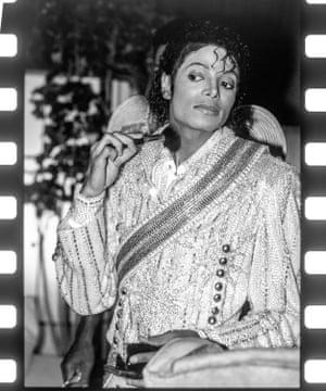 'He was fluid around gender' … Jackson applying makeup.