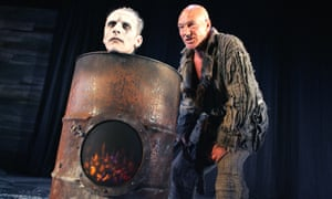Prospero cooks ... with Julian Bleach in the 2006 Tempest.
