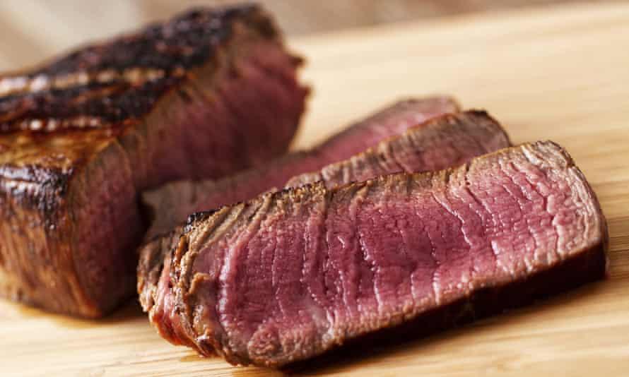Fillet of beef sliced