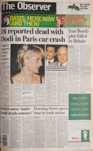 31 August 1997. Diana, Princess of Wales and Dodi Fayed die in a Paris car crash.