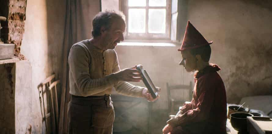 Earthy pleasures … Roberto Benigni and Federico Ielapi in Pinocchio.