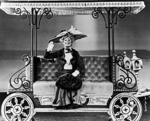 Carol Channing in Hello, Dolly! at the St James theatre, New York, circa 1964.