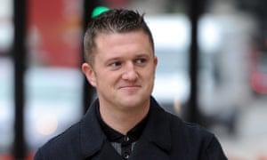 Tommy Robinson, the former EDL leader who organised the Pegida UK march in Birmingham.