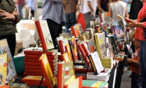 Readers peruse the stalls.