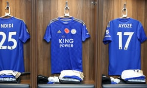The shirts of Wilfred Ndidi, James Maddison and Ayoze Perez.